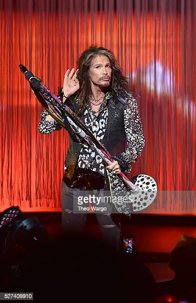 Steven Tyler performs on stage during 'Steven TylerOut on a Limb' Show to Benefit Janie's Fund in Collaboration with Youth Villages at David Geffen...