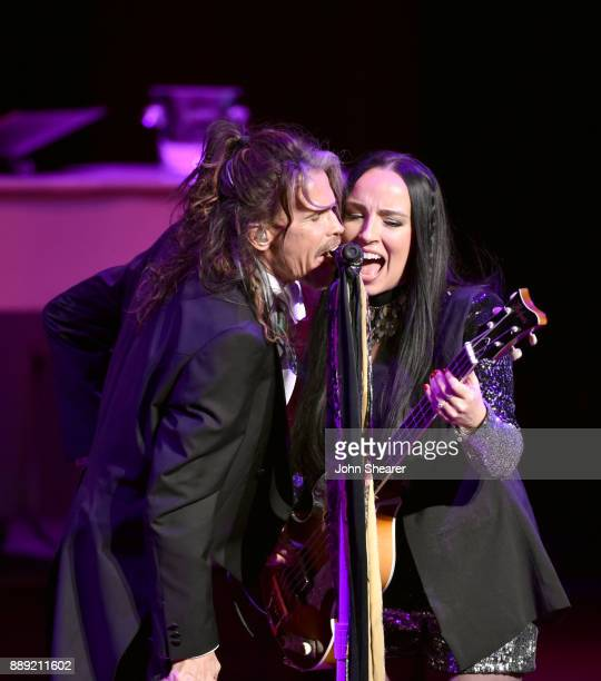 Steven Tyler performs onstage after being honored with Nashville Symphony's 2017 Harmony Award at Schermerhorn Symphony Center on December 9 2017 in...
