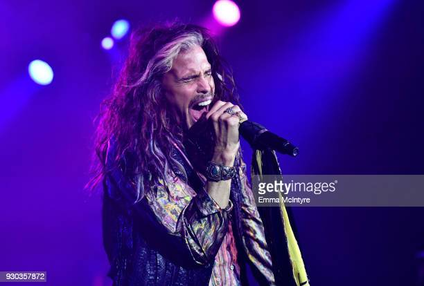 Steven Tyler performs onstage at Celebrity Fight Night XXIV on March 10 2018 in Phoenix Arizona