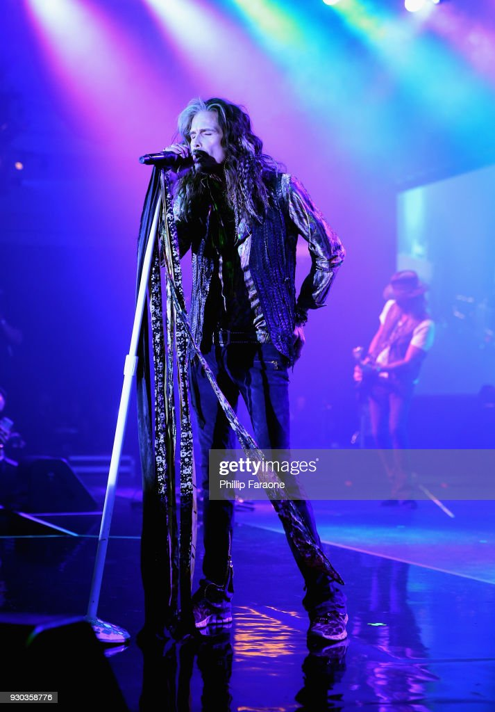 Steven Tyler performs onstage at Celebrity Fight Night XXIV on March 10, 2018 in Phoenix, Arizona.