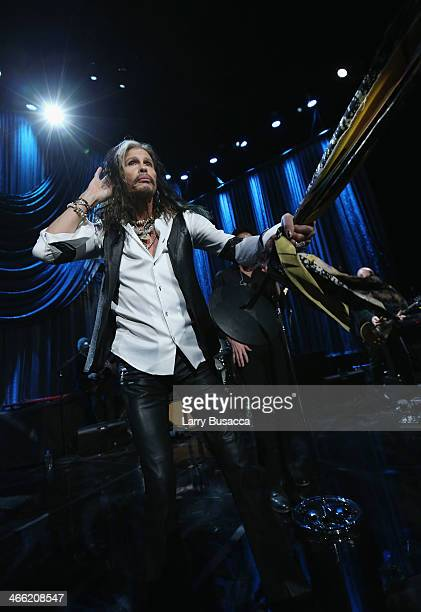 Steven Tyler performs onstage at 'Howard Stern's Birthday Bash' presented by SiriusXM produced by Howard Stern Productions at Hammerstein Ballroom on...