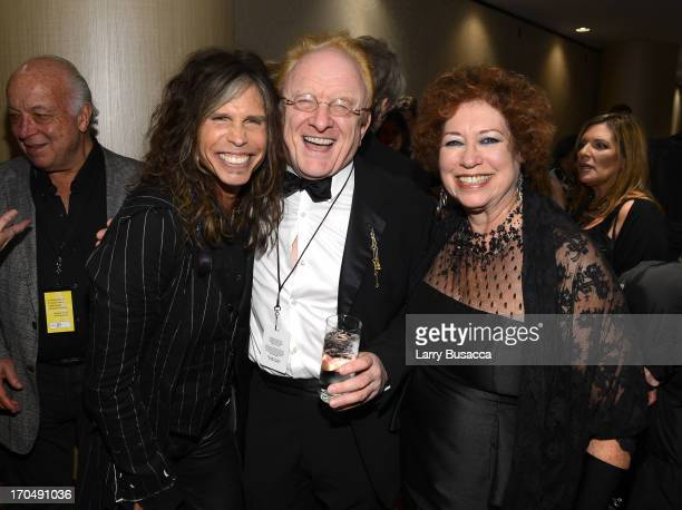 Steven Tyler, Peter Asher and SHOF Treasurer Karen Sher attend the Songwriters Hall of Fame 44th Annual Induction and Awards Dinner at the New York...