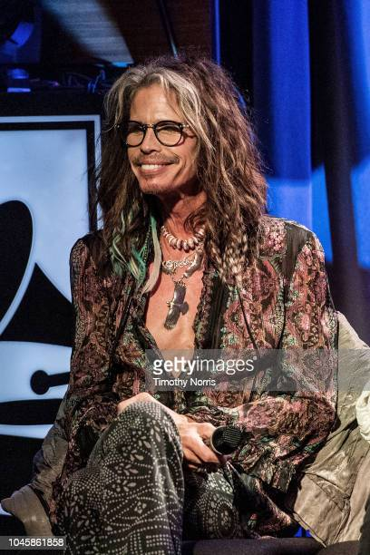Steven Tyler speaks during Muscle Shoals Small Town Big Sound at The GRAMMY Museum on October 4 2018 in Los Angeles California