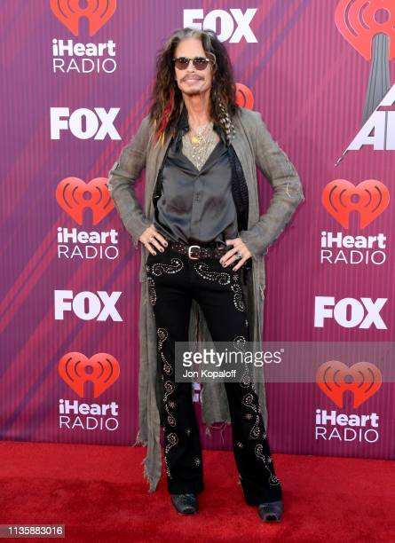 Steven Tylerattends the 2019 iHeartRadio Music Awards which broadcasted live on FOX at Microsoft Theater on March 14, 2019 in Los Angeles, California.