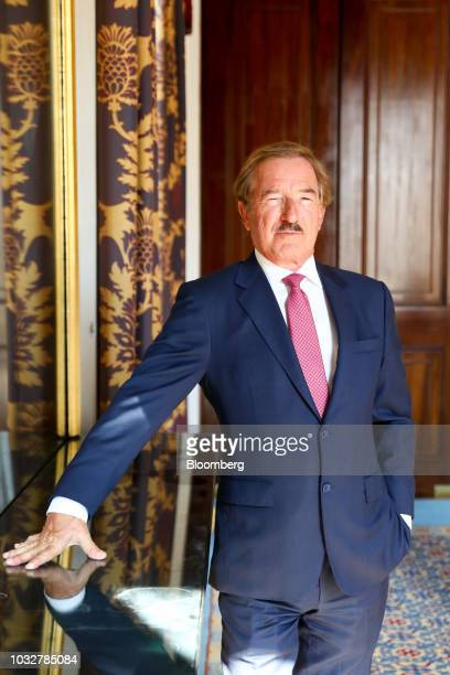 Steven UdvarHazy chairman of Air Lease Corp poses for a photograph after speaking at an Aviation Club lunch in London UK on Thursday Sept 13 2018...