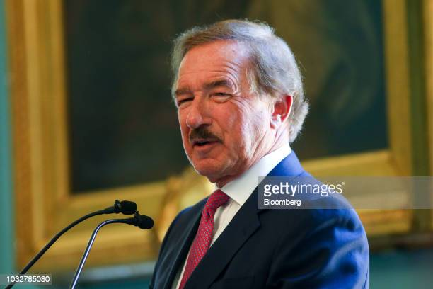Steven UdvarHazy chairman of Air Lease Corp speaks during an Aviation Club lunch in London UK on Thursday Sept 13 2018 Britain's Civil Aviation...