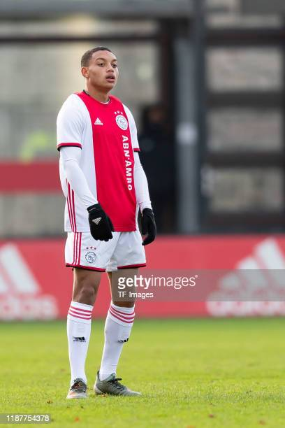 Steven van der Sloot of Ajax Amsterdam U19 looks on during the UEFA Youth League match between Ajax Amsterdam U19 and FC Valencia U19 on December 10...
