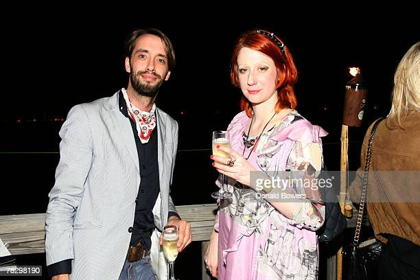 Steven Van Grinsven and Julie VerHoeven attend the Tokion magazine party at The Standard Hotel Miami Beach December 06 2007 in Miami Beach Florida