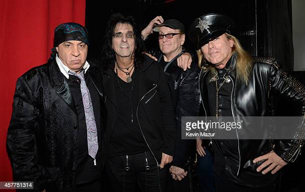 Steven Van Zandt Alice Cooper Rick Nielsen and Robin Zander backstage during The 6th Annual Little Kids Rock Benefit at Hammerstein Ballroom on...