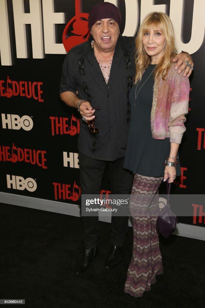 Steven Van Zandt and Maureen Van Zandt attend 'The Deuce' New York Premiere - Arrivals at SVA Theater on September 7, 2017 in New York City.