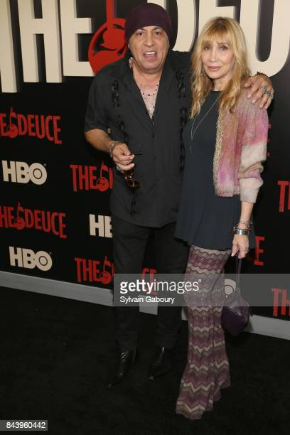 Steven Van Zandt and Maureen Van Zandt attend The Deuce New York Premiere Arrivals at SVA Theater on September 7 2017 in New York City