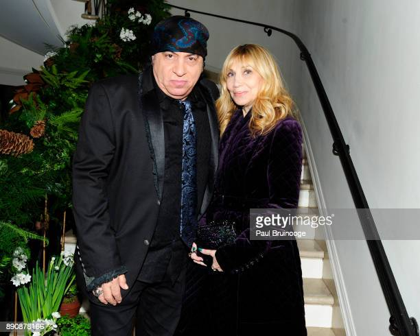 Steven Van Zandt and Maureen Van Zandt attend the New York premiere of 'Phantom Thread' After Party at Harold Pratt House on December 11 2017 in New...