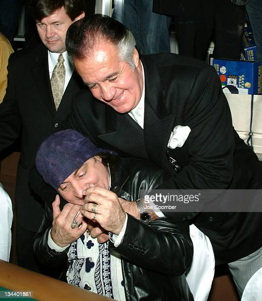 Steven Van Zandt and Tony Sirico during The Comedy Festival Celebrity Poker Tournament at PURE Nightclub at Caesars Palace in Las Vegas Nevada United...