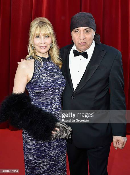 Steven Van Zandt and wife Maureen Van Zandt arrive at the opening ceremony of the 54th MonteCarlo Television Festival on June 7 2014 in MonteCarlo...