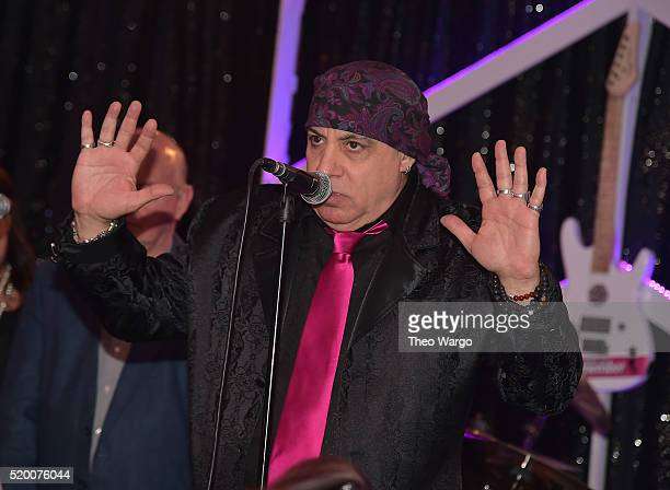 Steven Van Zandt attends the Kristen Ann Carr Fund Gala A Night to Remember 2016 Honoring Isabel and Jim Allen at Tribeca Grill on April 9 2016 in...