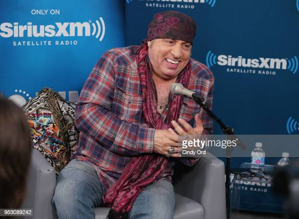 Steven Van Zandt is interviewed during a SiriusXM Town Hall hosted by Dave Marsh on SiriusXM's Volume Channel at the SiriusXM Studio on April 27 2018...