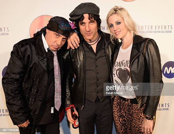 Steven Van Zandt Jesse Malin and Brody Dalle backstage during The 6th Annual Little Kids Rock Benefit at Hammerstein Ballroom on October 23 2014 in...
