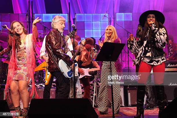Steven Van Zandt Maureen Van Zandt and Bobby Bandiera perform with Rockit musicians Amanda Destefano and Brittney Accetta at Count Basie Theater on...