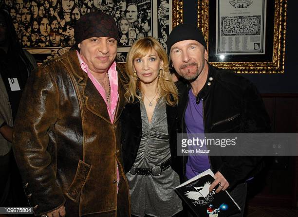 Steven Van Zandt Maureen Van Zandt and The Edge during Music Rising Presents Icons of Music Auction with Sales of $25 Million April 21 2007 at Hard...