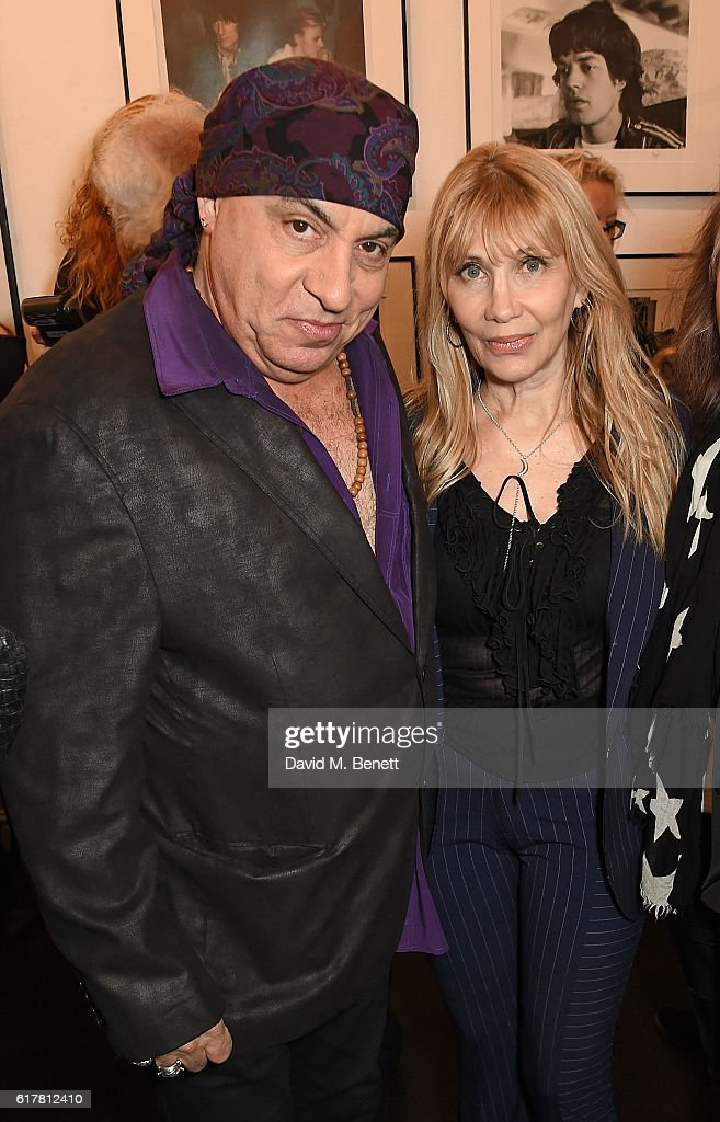 Steven Van Zandt, Maureen Van Zandt attend a private view of Bill Wyman's photographic exhibition 'Around The World In 80 Years', marking his 80th birthday, at Proud Chelsea on October 24, 2016 in London, England.
