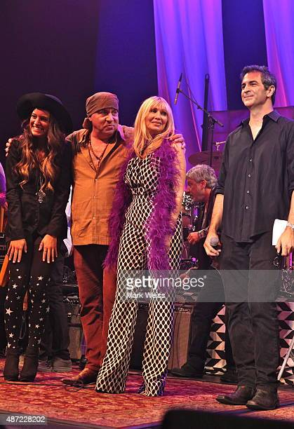 Steven Van Zandt Maureen Van Zandt Rockit Live founder Bruce Gallipani at Count Basie Theater on August 29 2015 in Red Bank New Jerseyn