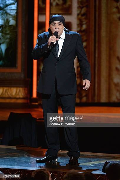 Steven Van Zandt performs onstage at The 67th Annual Tony Awards at Radio City Music Hall on June 9 2013 in New York City