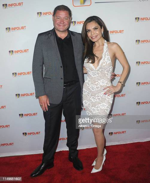 Steven Wayne and Brenda Mejia arrive for INFOListcom Hosts PreCannes Soiree held at SkyBar at the Mondrian Los Angeles on May 8 2019 in West...