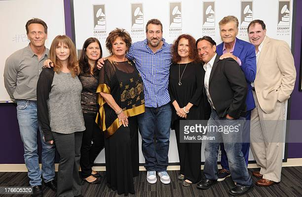 Steven Weber Laraine Newman Dayle Reyfel Lainie Kazan Joey Fatone Melissa Manchester Eugene Pack Fred Willard and Richard Kind pose before Celebrity...