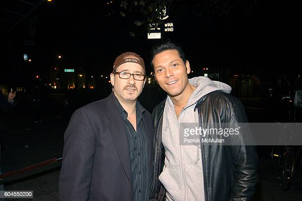 Steven Weiss and Giovanni Mena attend MONDAY'S HARD Party for Dr. Barry Cohen and pH Advantage Skin Care sponsored PINK Vodka at The PLUMM on...