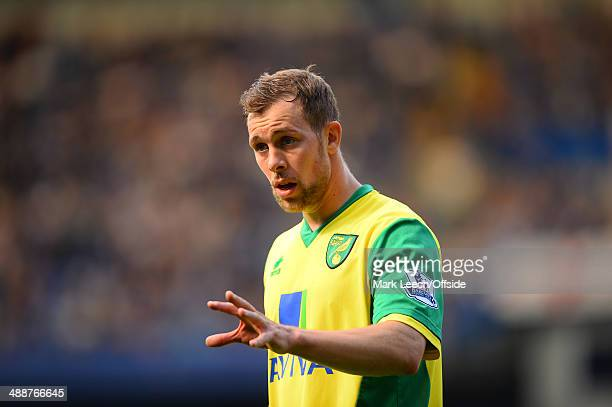 Steven Whittaker of Norwich City during the Barclays Premier League match between Chelsea and Norwich City at Stamford Bridge on May 4 2014 in London...