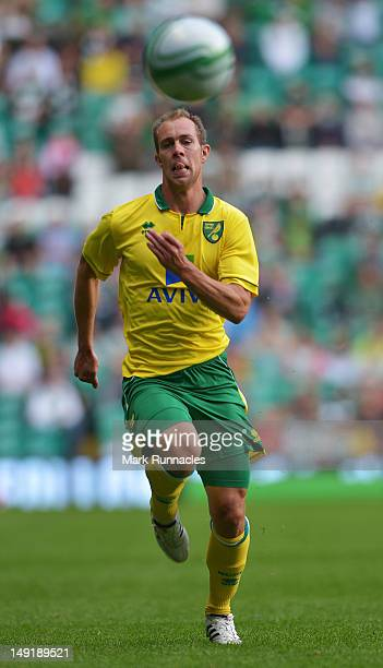 Steven Whittaker of Norwich City during the preseason friendly match between Celtic and Norwich City at Celtic park on July 24 2012 in Glasgow...