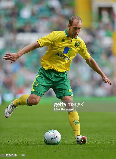 Steven Whittaker of Norwich City during the preseason friendly match between Celtic and Norwich City at ParkHead Stadium on July 24 2012 in Glasgow...