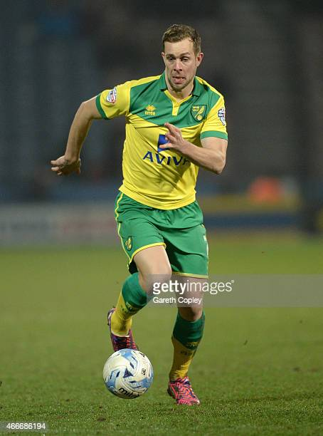 Steven Whittaker of Norwich City during the Sky Bet Championship between Huddersfield Town and Norwich City at John Smiths Stadium on March 17 2015...