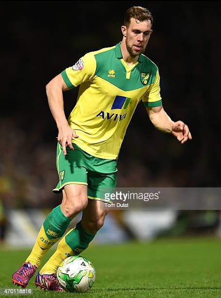 Steven Whittaker of Norwich City in action during the Sky Bet Championship match between Norwich City and Middlesbrough at Carrow Road on April 17...