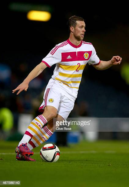 Steven Whittaker of Scotland in action during the Vauxhall International friendly match between Scotland and Northern Ireland at Hampden Park on...