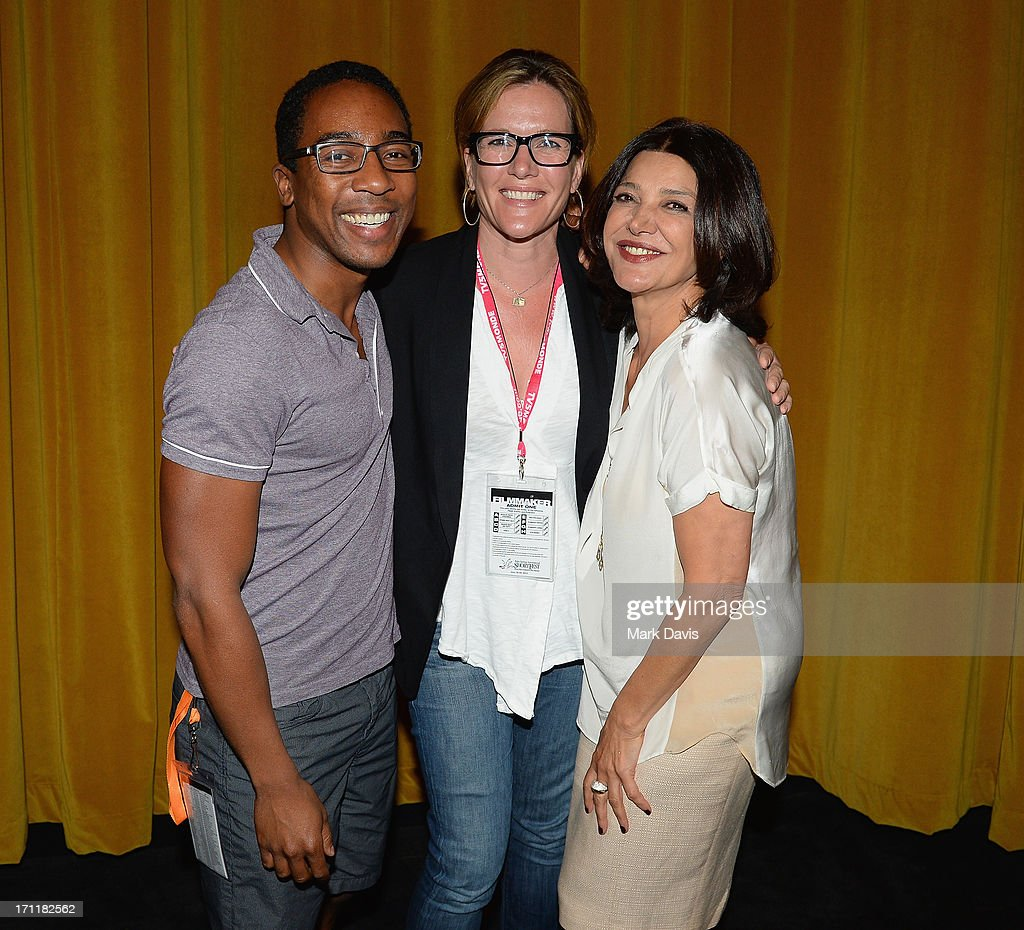 Steven Wilson, director Catherine Dent and actress Shohreh Aghdashloo attend the 2013 Palm Springs ShortFest 'Shooting Stars' Screening held at the Camelot theater on June 21, 2013 in Palm Springs, California.