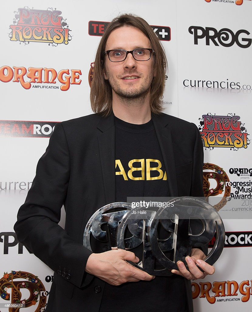 Steven Wilson of Porcupine Tree wins The Storm Thorgeson Grand Design,Album of the Year and Commercial Breakthrough Awards at the Progressive Music Awards at Underglobe on September 3, 2015 in London, England.