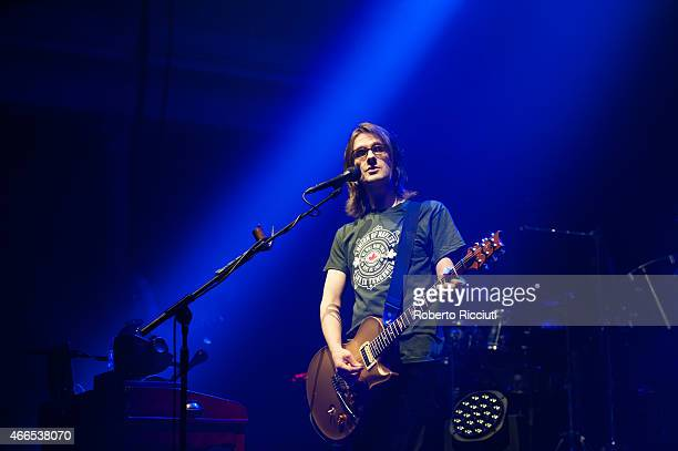 Steven Wilson performs on stage at Queens Hall on March 16, 2015 in Edinburgh, United Kingdom.