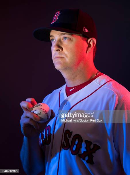 Steven Wright of the Boston Red Sox poses for a portrait on February 19 2017 at jetBlue Park in Fort Myers Florida