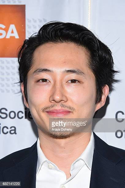 Steven Yeun arrives at the 2017 Annual Artios Awards at The Beverly Hilton Hotel on January 19 2017 in Beverly Hills California