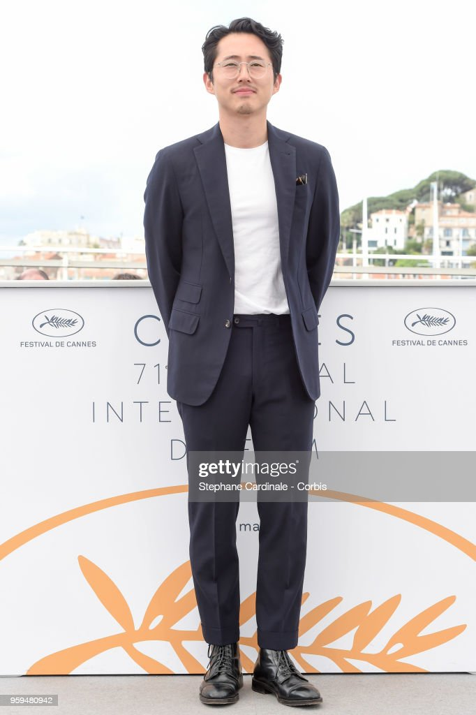 Steven Yeun attends 'Burning' Photocall during the 71st annual Cannes Film Festival at Palais des Festivals on May 17, 2018 in Cannes, France.
