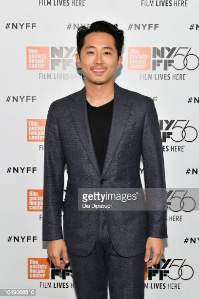 Steven Yeun attends the 'Burning' screening during the 56th New York Film Festival at Alice Tully Hall Lincoln Center on October 03 2018 in New York...