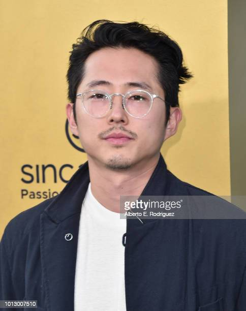 """Steven Yeun attends the premiere of Warner Bros. Pictures' """"Crazy Rich Asiaans"""" at TCL Chinese Theatre IMAX on August 7, 2018 in Hollywood,..."""