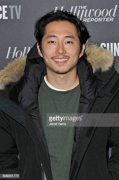 Steven Yeun attends the The Hollywood Reporter and SundanceTV's 2016 Sundance Film Festival Kickoff Party on January 22, 2016 in Park City, Utah.