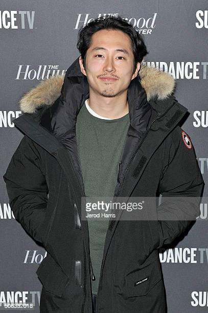 Steven Yeun attends the The Hollywood Reporter and SundanceTV's 2016 Sundance Film Festival Kickoff Party on January 22 2016 in Park City Utah