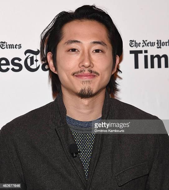 Steven Yeun attends TimesTalks The Walking Dead at TheTimesCenter on February 2 2015 in New York City