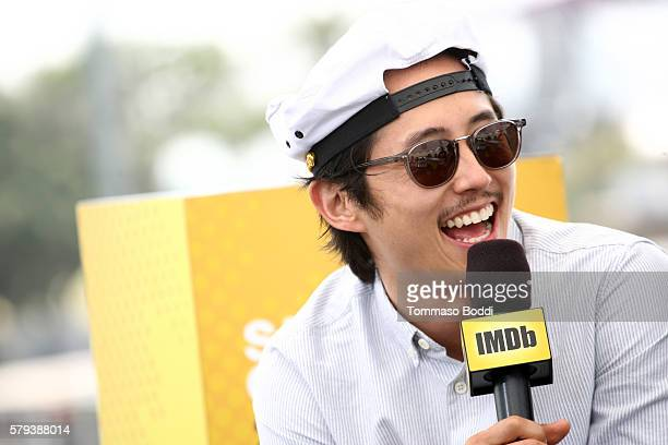 Steven Yeun of The Walking Dead attends the IMDb Yacht at San Diego ComicCon 2016 Day Three at The IMDb Yacht on July 23 2016 in San Diego California