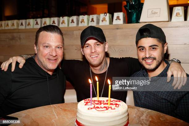 Steven Zap singer Aaron Carter and Jayson Sanchez celebrates Carter's 30th birthday and the release of his new single 'Don't Say Goodbye' at Il...