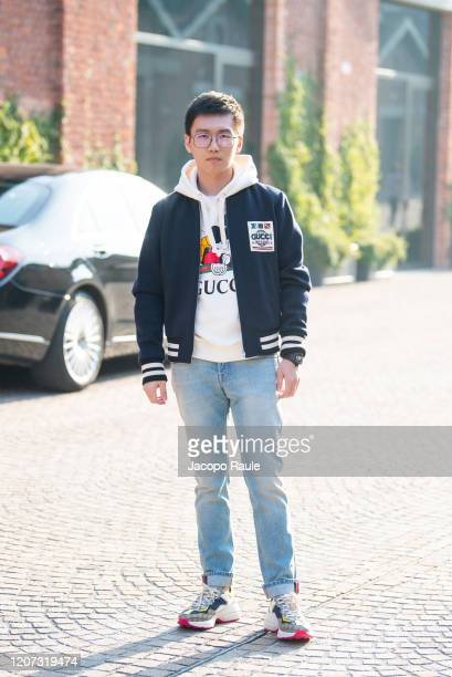 Steven Zhang attends the Gucci fashion show on February 19 2020 in Milan Italy