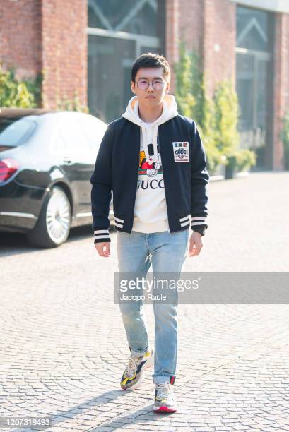Steven Zhang attends the Gucci fashion show on February 19, 2020 in Milan, Italy.